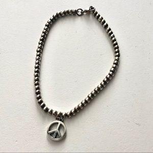 Tiffany & Co. Peace Sign Bead Bracelet